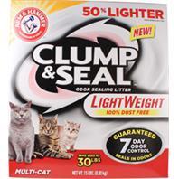 Church & Dwight - Arm & Hammer Clump & Seal Multi-Cat Lightwt Litter - 15 Lb