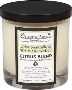 Aroma Paws - Odor Neutralizing Candle Jar - Citrus - 12 oz