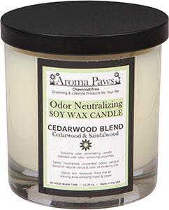 Aroma Paws - Odor Neutralizing Candle Jar - Cedar Wood - 12 oz
