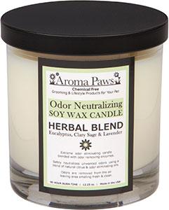 Aroma Paws - Odor Neutralizing Candle Jar - Herbal - 12 oz