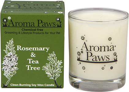 Aroma Paws - Rosemary Tea Tree - Glass Candle In Box - 8 oz