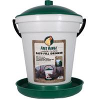 Harris Farms - Free Range Ez Fill Plastic Poultry Waterer - Green - 6.25 Gallon