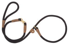Mendota Pet - Swivel Slip Lead - Black - 1/2 Inch x 6 Feet