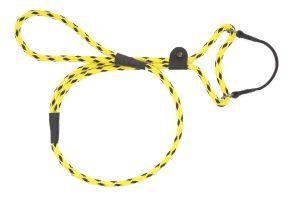 Mendota Pet - Black Ice Dog Walker - 3/8 Inch x 4 Feet - Yellow