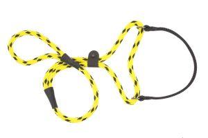 Mendota Pet - Black Ice Big Dog Walker - 1/2 Inch x 4 Feet - Yellow