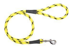 Mendota Pet - Black Ice Snap Leash - 1/2 Inch x 6 Feet - Yellow