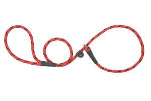 Mendota Pet - Black Ice Small Slip Lead - 3/8 Inch x 6 Feet - Red