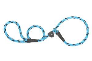 Mendota Pet - Black Ice Slip Lead - 1/2 Inch x 4 Feet - Turquoise