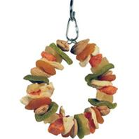 A&E Cage Company - Happy Beaks Deluxe Fruit Ring Toy - Multicolored