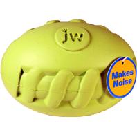 JW Pet - Sillysounds Spiral Football - Assorted - Medium