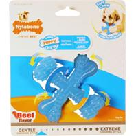 Nylabone - Puppy Chew X Bone - Beef - Regular