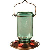 Classic Brands -  Mason Jar Glass Hummingbird Feeder - Clear - 25 oz