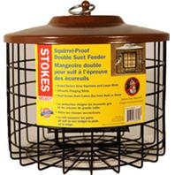 Classic Brands - Stokes Squirrel Proof Double Suet Feeder - Brown