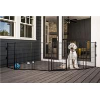 Carlson Pet Products - Supergate Extra Tall With Small Pet Door - Black - 36X144 Inch