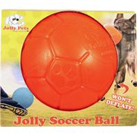 Jolly Pets - Jolly Soccer Ball - Orange - 6 Inch