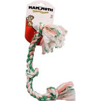 Mammoth Pet Products - Flossy Chews Color 3 Knot Rope Tug Dog Toy - Multicolored - 20 Inch/Medium
