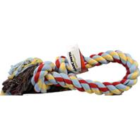 Mammoth Pet Products - Flossy Chews 2 Knot Rope Tug Dog Toy - Multicolored - 48Inch/Mammoth