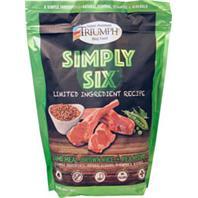 Triumph Pet - Triumph Simply Six Dog Food - Lamb/Rice/Pea - 3 Lb