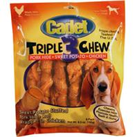 Ims Trading Corp - Cadet Triple Chew Rolls - Chicken/Pork/Sweet Potato - 6 Pack
