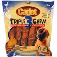 Ims Trading Corp - Cadet Triple Chew Rolls - Duck/Pork/Sweet Potato - 6 Pack