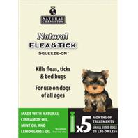 Natural Chemistry - Natural Flea & Tick Squeeze On For Small Dogs - 25 Lbs Or Less