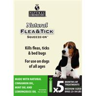 Natural Chemistry - Natural Flea & Tick Squeeze On For Medium Dogs - 25 - 50 Lbs