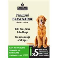 Natural Chemistry - Natural Flea & Tick Squeeze On For Large Dogs - 50 Lbs Plus