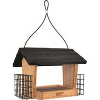Natures Way Bird Products - Hopper Feeder Bambo With Suet Cages - 3 Qt Capacity