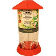 North States Industries - Village Collection Gazebo Bird Feeder - Red - 2.25 Lb Capacity