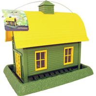 North States Industries - Village Collection Barn Bird Feeder - Green/Yellow - 8 Lb Capacity