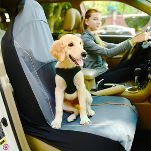 Iconic Pet - FurryGo Pet Single Car Seat Cover - Navy Blue
