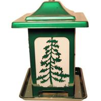 Apollo Investment Holding - The Woodland Pines Frosted Bird Feeder - Green