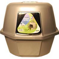 Van Ness Plastic Molding - Enclosed Corner Cat Pan With Odor Door And Filter