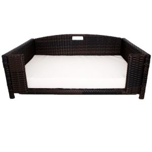 Iconic Pet - Rattan Rectangular Pet Sofa - Medium