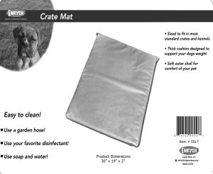 "Enrych Pet - Prison Bed Crate Pads 30"" x 19"" x 2"""