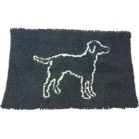 Ethical Dog - Clean Paws Microfiber Mat - Grey - 35 X 24 Inch