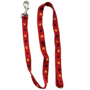 Paw Print Leash - Red - 0.78 x 47.2 Inch