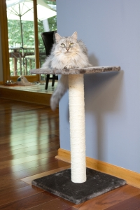 Iconic Pet - Scratch It! - Sisal Cat Scratching Post - Light Grey