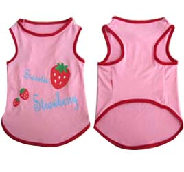 Pretty Pet Pink Strawberry Top - Medium