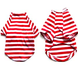 Pretty Pet Red and White Striped Top - Small