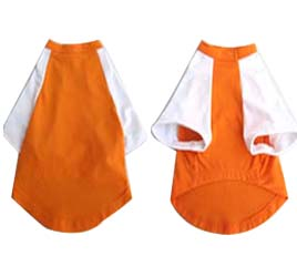 Pretty Pet Orange and White Top - XLarge