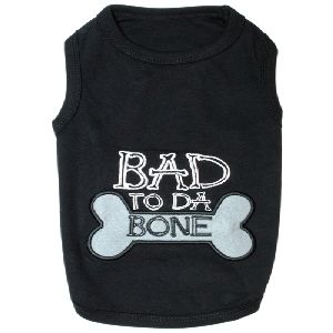 Parisian Pet Bad To Da Bone Dog T-Shirt-X-Large
