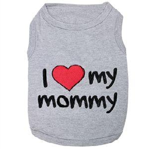 Parisian Pet I Love Mommy Dog T-Shirt-Large