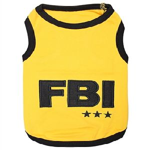 Parisian Pet FBI Dog T-Shirt-Medium