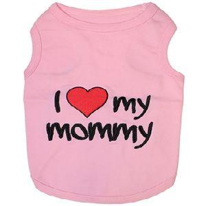 Parisian Pet I Love Mommy Pink Dog T-Shirt-X-Small