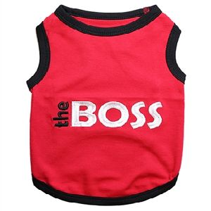 Parisian Pet The Boss Dog T-Shirt-Medium