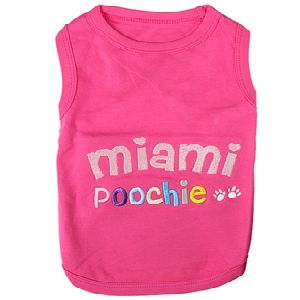 Parisian Pet Miami Poochie Dog T-Shirt-X-Small