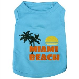 Parisian Pet Miami Beach Dog T-Shirt-Medium