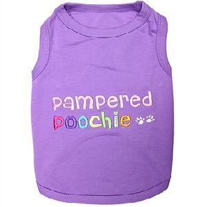 Parisian Pet Pampered Poochie Dog T-Shirt-XX-Small