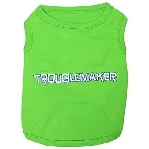 Parisian Pet Troublemaker Dog T-Shirt-X-Large